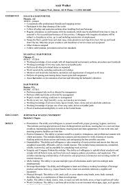 Bar Porter Sample Resume Bar Porter Resume Samples Velvet Jobs 1