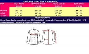 Chef Jacket Size Chart Uniforms Guru Chef Jacket Black Short Sleeve