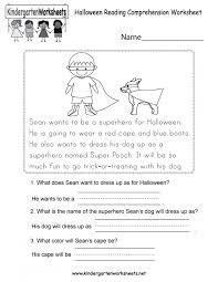 Free Printable Kindergartening Comprehension Worksheets Math For ...
