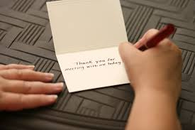how to follow up a thank you for a phone interview hand written thank you note
