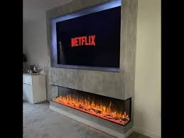 40 modern electric fireplace with tv