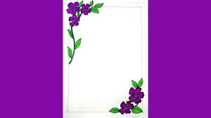 how to draw flower corner border design