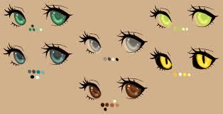 anime eyes color.  Color Eye Color Palette By Kohlmeisendeviantartcom On DeviantArt On Anime Eyes Color