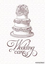 Vintage Wedding Cake Vector Stock Image And Royalty Free Vector