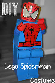 diy lego spiderman costume legoman