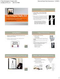 Pediatric Vision Screening Charts P Kay Nottingham Chaplin Ed D National Head Start