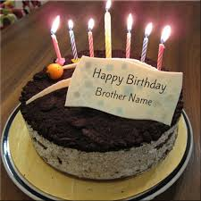 Write Name On Happy Birthday Cakes For Brother