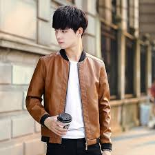 2019 mens red leather jacket motorcycle jacket young men slim fit zipper blazers for boys fashion style from aaronliu880 50 77 dhgate com