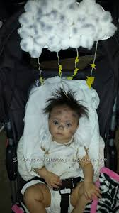struck by lightning baby costume