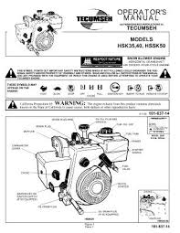 hssk50 tecumseh snow blower engine manual manual location