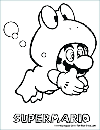 Super Mario Coloring Pages To Print At Getdrawingscom Free For
