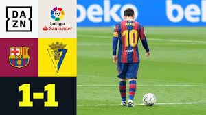 Barca schwächelt! Messi-Elfer reicht nur zum Remis: FC Barcelona - Cadiz  1:1 | LaLiga