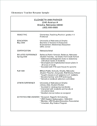 Pre K Teacher Resume Sample Best Of Elementary School Teacher Resume Template Sample Elementary Teacher