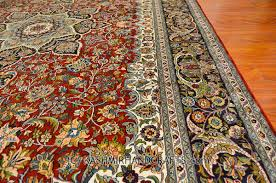 red isfahan silk on rug burdy maroon traditional carpet area rugs persian style