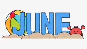 June Month Of Clipart Transparent Png - June Clipart, Png Download - kindpng