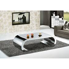 brown coffee table glass top chrome legs with drawer living room loading zoom