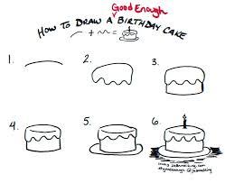 Draw A Cake Draw Birthday Cake Images 488websitedesigncom