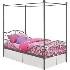 DHP Metal Canopy Bed, Multiple Sizes, Multiple Colors