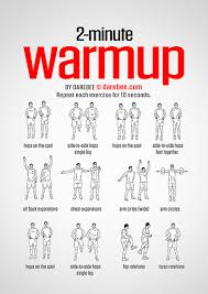here is a selection of ready warm ups