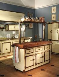 image of antique kitchen island butcher block top