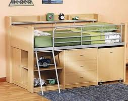 loft bed with desk and storage unusual staggered bunk beds with with regard to charleston