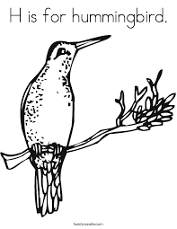Small Picture H is for hummingbird Coloring Page Twisty Noodle