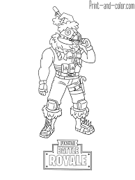 Fortnite Battle Royale Coloring Page Sgtwinter Skin Tryybache