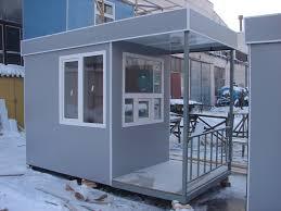 Стоимость поста охраны в Москве Купить КПП Контрольно пропускной пункт проходная 3700х1700х2500