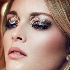 it s the perfect time to experiment with sparkly eyeshadow of all shades silver gold rose gold turquoise it s up to you