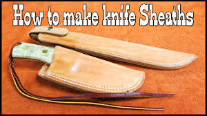 Knife Sheath Patterns Magnificent Leathercraft How To Make Knife Sheaths Part 48 Leather Working
