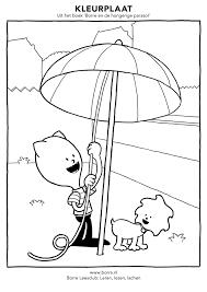 Uit Het Boek Borre En De Hongerige Parasol Kleurplaten In Hogere