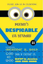 Invitation Templates Birthday Minions Birthday Invitation Template How To Create Minion Birthday