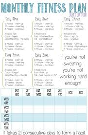 Monthly Fitness Plan for Beginners! This is a four week fitness plan that I  customized