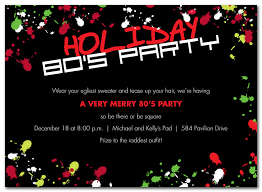holiday invitations merry 80s party holiday invitations by invitation consultants
