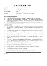 Kitchen Staff Job Description For Resume Fancy Kitchen Staff Resume Collection Documentation Template 17