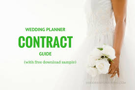 wedding planning contract templates free sample wedding planner contract