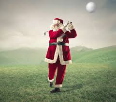 Premium Photo   Santa claus playing golf