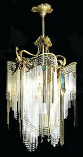 art deco chandelier reion vintage art deco crystal chandelier guimard chandelier art nouveau design by hector guimard french art nouveau glass