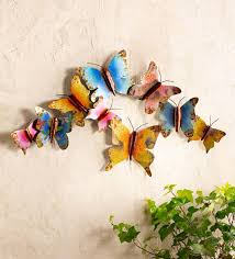 Shop for butterfly wall decor at bed bath & beyond. Colorful Indoor Outdoor Metal Nine Butterfly Wall Art Wind And Weather
