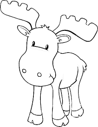 Small Picture Moose Baby Moose Coloring Page Preschool Pinterest Moose