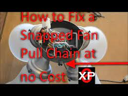 fix a snapped fan pull chain at no cost