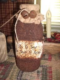 primitive valentine decor this prim jar is made from an old gl milk bottle