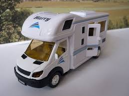 personalised name gift white toy motorhome