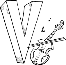 Letter V Coloring Pages Printables For