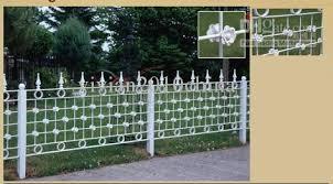white wire garden fence. White Wire Garden Fence E