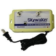 tv antenna booster. skywalker 25db variable gain amplifier vhf uhf fm (s.. tv antenna booster