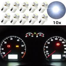 Yellow Light On Speedometer 10pcs White Blue Red Yellow Led T5 B8 5d 12v Car Gauge B8 5