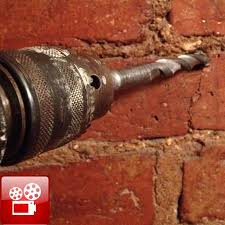 drill into brick or mortar when hanging something gf