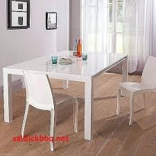 Table De Cuisine Avec Rallonge Alacgant Salle A Manger Carree Blanche
