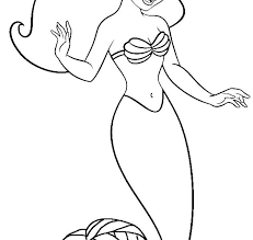 Baby Princess Ariel Coloring Pages Mermaid Page The Little Online